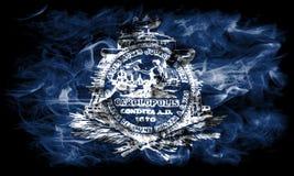Bandiera del fumo della città di Charleston, Carolina State del sud, Stati Uniti d'America Fotografie Stock