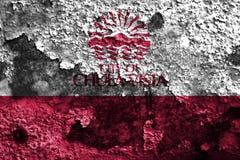 Bandiera del fumo della città di Chula Vista, stato di California, Stati Uniti di Fotografia Stock