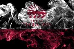 Bandiera del fumo della città di Chula Vista, stato di California, Stati Uniti di Immagini Stock Libere da Diritti