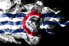 Bandiera del fumo della città di Cincinnati, stato dell'Ohio, Stati Uniti d'America royalty illustrazione gratis