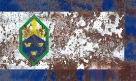 Bandiera del fumo della città di Colorado Springs, stato di Colorado, Stati Uniti Fotografia Stock