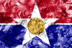 Bandiera del fumo della città di Dallas, stato di Illinois, Stati Uniti d'America Fotografie Stock Libere da Diritti