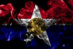 Bandiera del fumo della città di Dallas, stato di Illinois, Stati Uniti d'America Immagine Stock Libera da Diritti