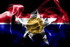 Bandiera del fumo della città di Dallas, stato di Illinois, Stati Uniti d'America royalty illustrazione gratis