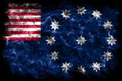 Bandiera del fumo della città di Easton, stato della Pensilvania, Stati Uniti di Ame Fotografia Stock