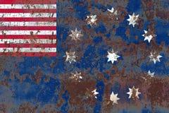 Bandiera del fumo della città di Easton, stato della Pensilvania, Stati Uniti di Ame Fotografia Stock Libera da Diritti