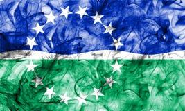 Bandiera del fumo della città di Hampton Roads, Virginia State, Stati Uniti di Fotografia Stock Libera da Diritti