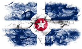 Bandiera del fumo della città di Indianapolis, Indiana State, Stati Uniti dell' Fotografie Stock