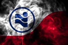 Bandiera del fumo della città di Irving, Texas State, Stati Uniti d'America fotografie stock libere da diritti