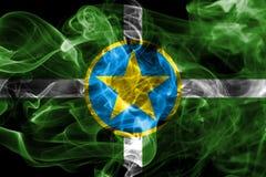 Bandiera del fumo della città di Jackson, stato del Mississippi, Stati Uniti di Ame Immagini Stock Libere da Diritti