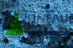 Bandiera del fumo della città di Juneau, stato dell'Alaska, Stati Uniti d'America Fotografie Stock