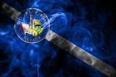 Bandiera del fumo della città di Las Vegas, Nevada State, Stati Uniti di Americ immagine stock libera da diritti