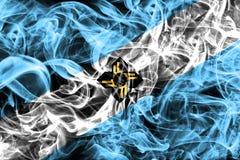 Bandiera del fumo della città di Madison, stato di Wisconsin, Stati Uniti di Ameri Immagini Stock Libere da Diritti