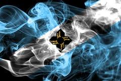 Bandiera del fumo della città di Madison, stato di Wisconsin, Stati Uniti di Ameri Immagine Stock