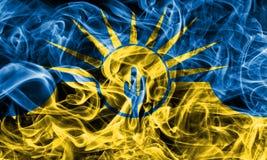 Bandiera del fumo della città di MESA, stato dell'Arizona, Stati Uniti d'America Fotografie Stock