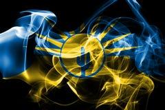 Bandiera del fumo della città di MESA, stato dell'Arizona, Stati Uniti d'America royalty illustrazione gratis
