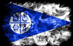 Bandiera del fumo della città di Minneapolis, stato del Minnesota, Stati Uniti di A Fotografia Stock Libera da Diritti