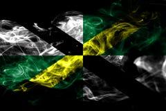 Bandiera del fumo della città di Monterey, stato di California, Stati Uniti di Ame illustrazione di stock