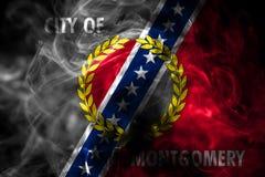 Bandiera del fumo della città di Montgomery, stato dell'Alabama, Stati Uniti di Amer royalty illustrazione gratis