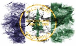 Bandiera del fumo della città di Palo Alto, stato di California, Stati Uniti dell' Immagini Stock Libere da Diritti