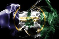 Bandiera del fumo della città di Palo Alto, stato di California, Stati Uniti dell' illustrazione di stock