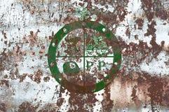 Bandiera del fumo della città di Pee Pee Township, stato dell'Ohio, Stati Uniti di A Fotografie Stock