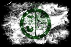 Bandiera del fumo della città di Pee Pee Township, stato dell'Ohio, Stati Uniti d'America Immagini Stock Libere da Diritti