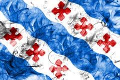 Bandiera del fumo della città di Rockville, stato di Maryland, Stati Uniti di Amer Fotografie Stock