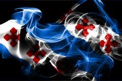 Bandiera del fumo della città di Rockville, stato di Maryland, Stati Uniti di Amer illustrazione di stock