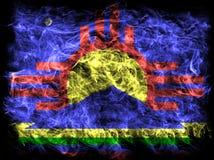 Bandiera del fumo della città di Roswell, stato del New Mexico, Stati Uniti di Amer fotografia stock