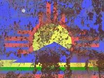 Bandiera del fumo della città di Roswell, stato del New Mexico, Stati Uniti di Amer immagine stock