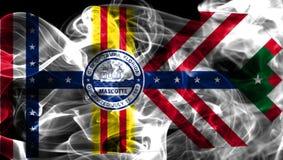Bandiera del fumo della città di Tampa, stato di Florida, Stati Uniti d'America immagine stock