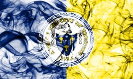 Bandiera del fumo della città di Trenton, stato del New Jersey, Stati Uniti d'America Fotografia Stock