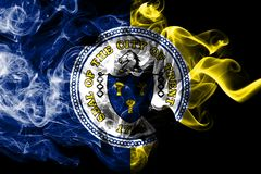 Bandiera del fumo della città di Trenton, stato del New Jersey, Stati Uniti d'America illustrazione vettoriale