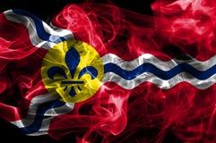 Bandiera del fumo della città del Saint Louis, stato del Missouri, Stati Uniti dell' Fotografia Stock Libera da Diritti