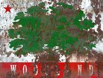 Bandiera del fumo della città del terreno boscoso, stato di California, Stati Uniti di Ame Immagine Stock Libera da Diritti