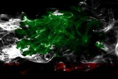 Bandiera del fumo della città del terreno boscoso, stato di California, Stati Uniti di Ame illustrazione di stock