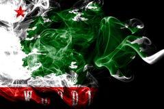 Bandiera del fumo della città del terreno boscoso, stato di California, Stati Uniti d'America royalty illustrazione gratis