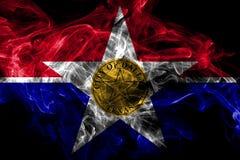 Bandiera del fumo della citt? di Dallas, stato di Illinois, Stati Uniti d'America royalty illustrazione gratis