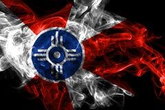 Bandiera del fumo della citt? di Wichita, stato di Kansas, Stati Uniti d'America illustrazione vettoriale