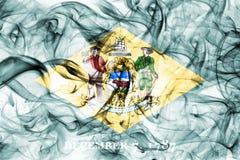 Bandiera del fumo dello stato del Delaware, Stati Uniti d'America royalty illustrazione gratis
