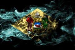 Bandiera del fumo dello stato del Delaware, Stati Uniti d'America illustrazione vettoriale
