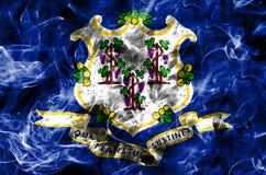 Bandiera del fumo dello stato di Connecticut, Stati Uniti d'America fotografie stock