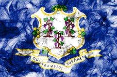 Bandiera del fumo dello stato di Connecticut, Stati Uniti d'America fotografia stock