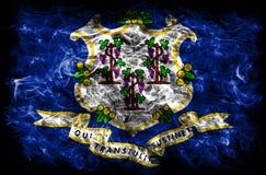 Bandiera del fumo dello stato di Connecticut, Stati Uniti d'America fotografia stock libera da diritti