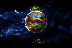 Bandiera del fumo dello stato di Kansas, Stati Uniti d'America immagine stock