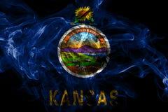 Bandiera del fumo dello stato di Kansas, Stati Uniti d'America illustrazione di stock