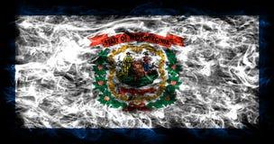 Bandiera del fumo dello stato del Virginia Occidentale, Stati Uniti d'America Immagine Stock Libera da Diritti
