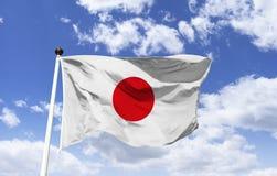 Bandiera del Giappone, terra del sol levante immagini stock
