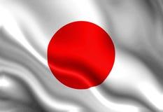 Bandiera del giapponese Fotografia Stock